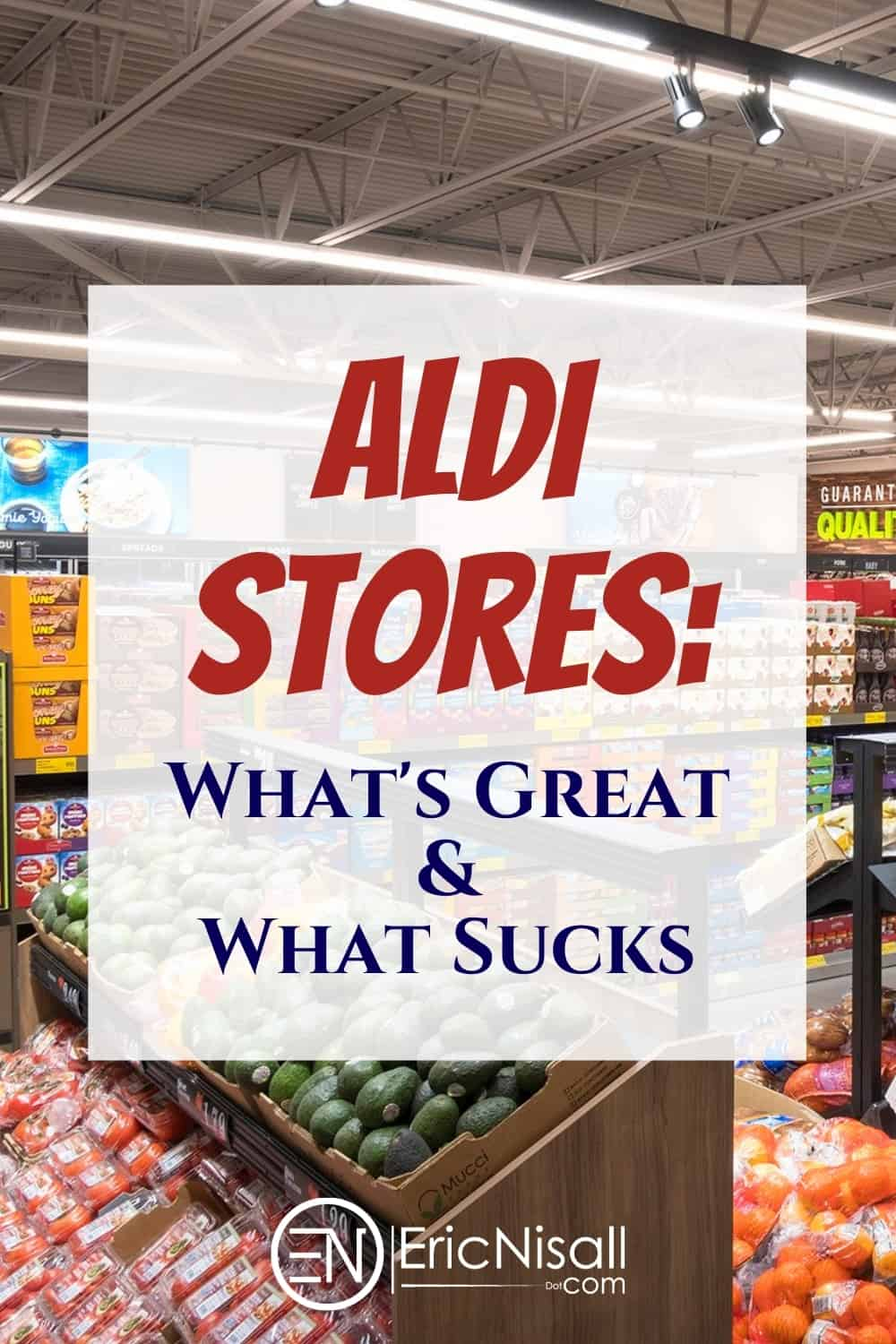 Aldi stores are awesome! No, Aldi sucks! Actually, it's both and I'll tell you exactly why I have such split feelings. via @ericnisall