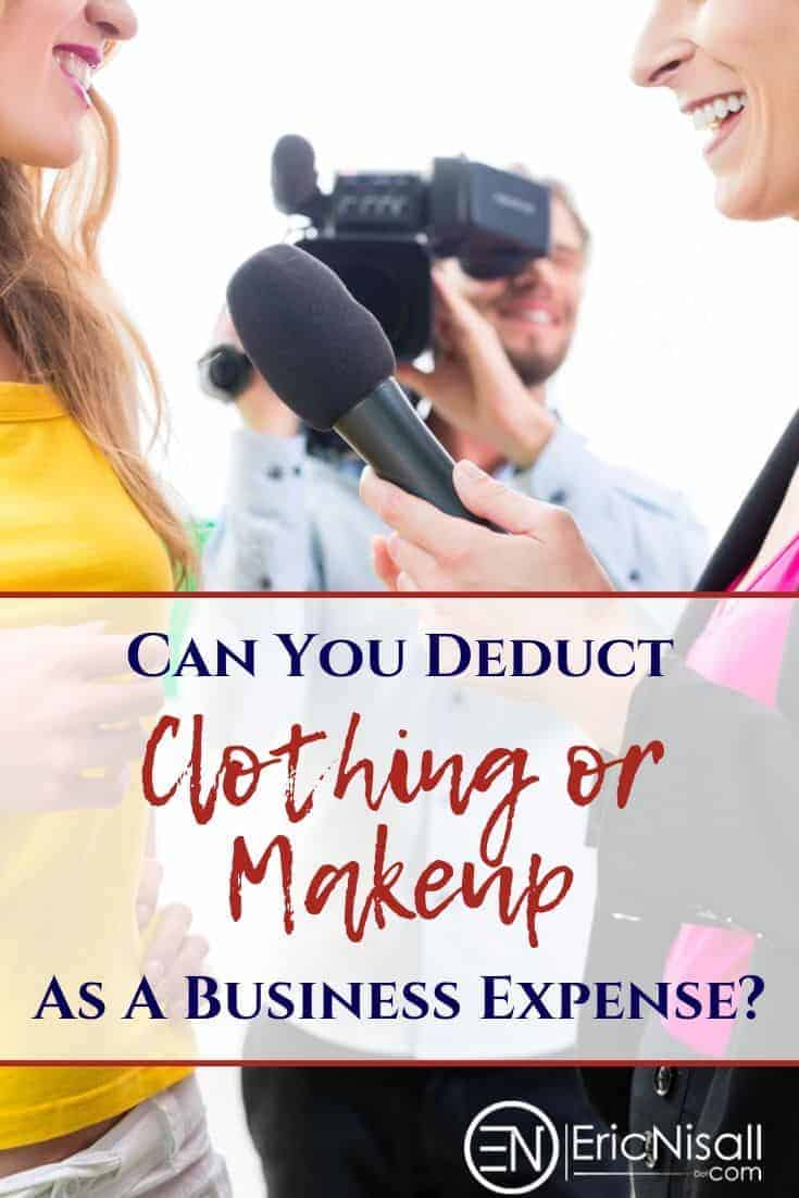 Think the costs of prepping for a big photo shoot, interview or self-made video is a reasonable business expense? Think Again! Well, maybe. Click on the image to find out what is legitimately a business expense and what you have to eat personally. #vlog #marketing #fashionblog #makeup #style #lifestyle #wardrobe #professionalappearance via @ericnisall