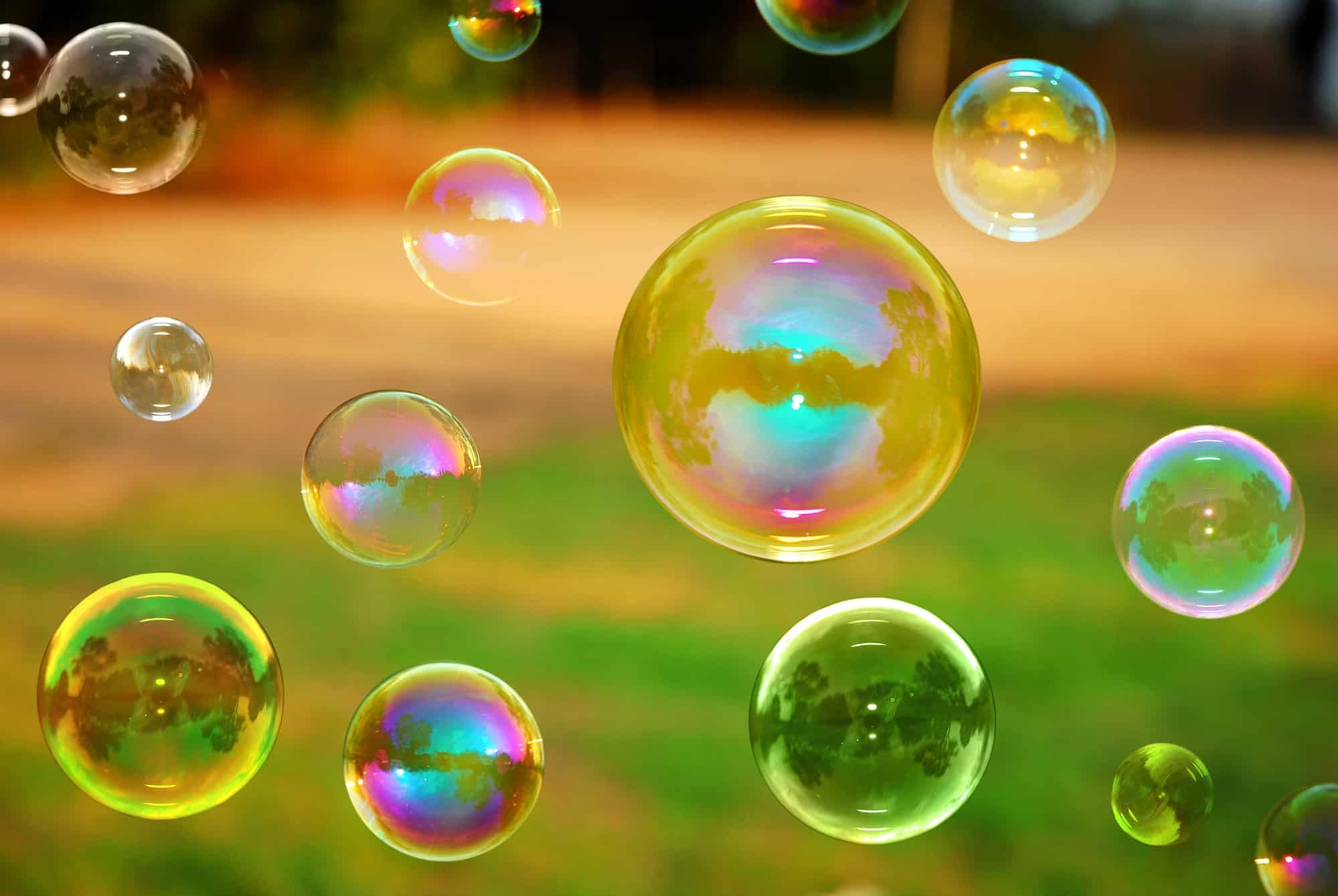 Investing in collectibles: bubbles floating in the air.