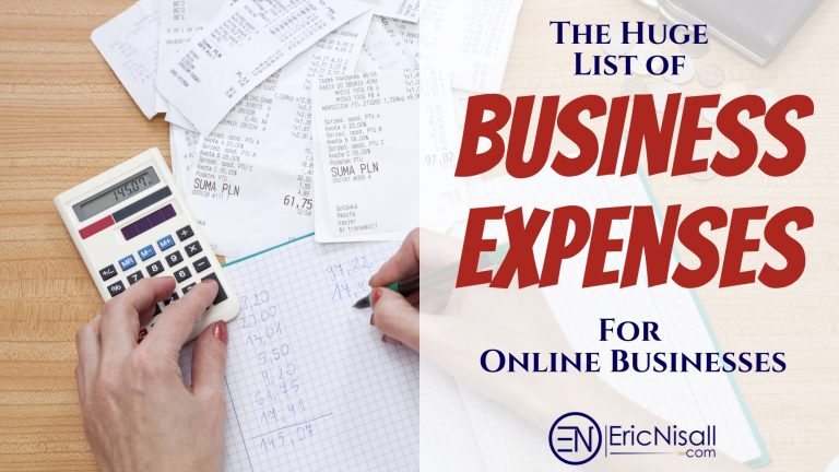 The Huge List Of Business Expenses For Online Businesses
