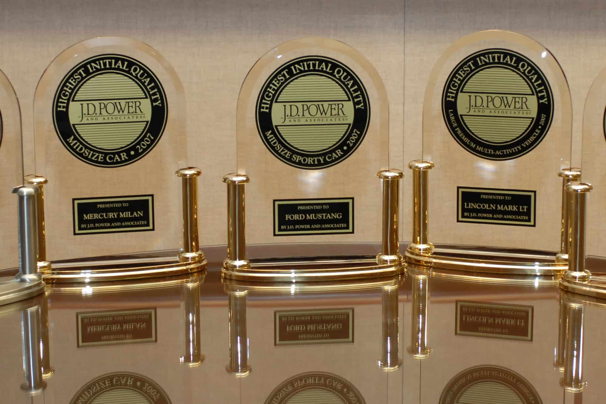 JD Power awards for Ford Lincoln Mercury showing marketing agencies grab anything to sell customers on