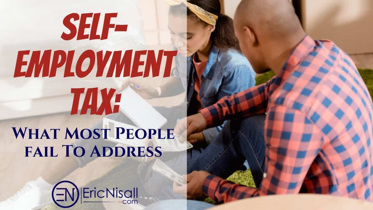 Black couple sitting on green rug discussing self-employment taxes