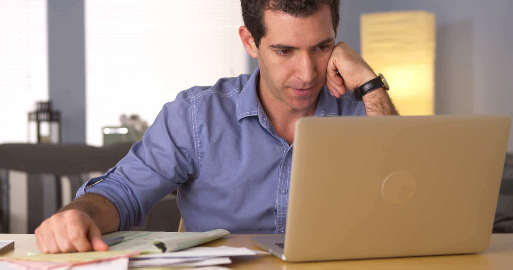 Tax accountant confused over a client's ledger and invoices
